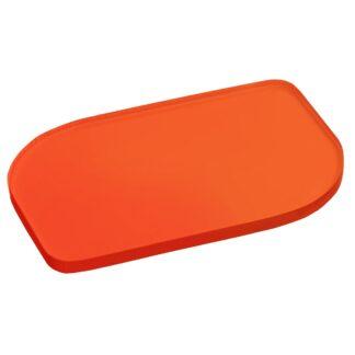 Frosted Orange Acrylic Sheet Sample