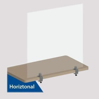 Acrylic sheet plastics cut to size | Easy Fit Desk Screen Divider Clamps - Acrylic screen divider clamps