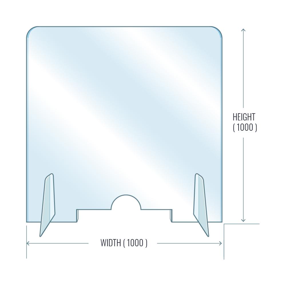 Coronavirus and plastic protecting screens
